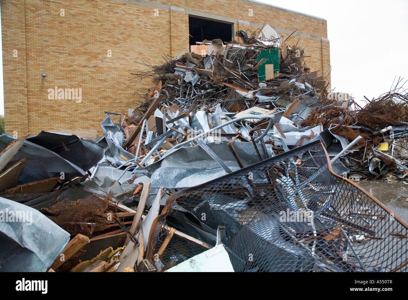 School Being Demolished - Stock Image