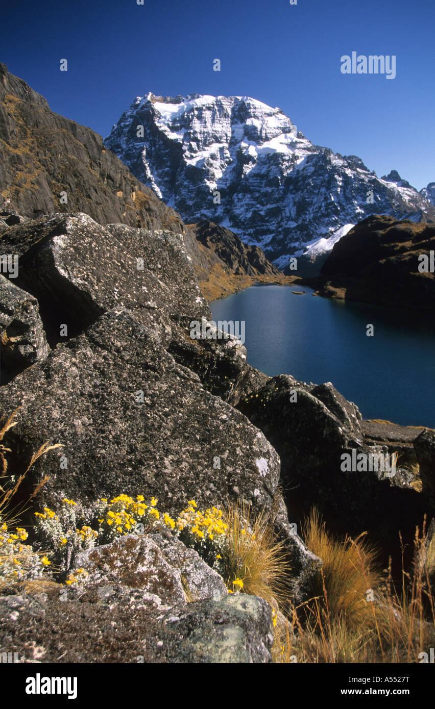 Mt Tikimani, Cordillera Real, Bolivia - Stock Image