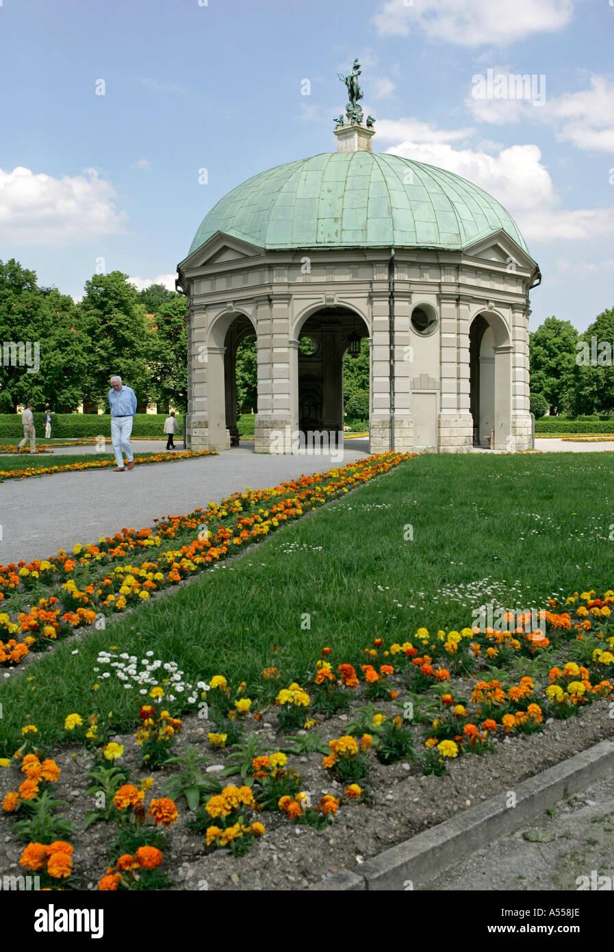 Munich, GER, 01. Jun. 2005 - Temple of Diana in the Munich Hofgarten - Stock Image