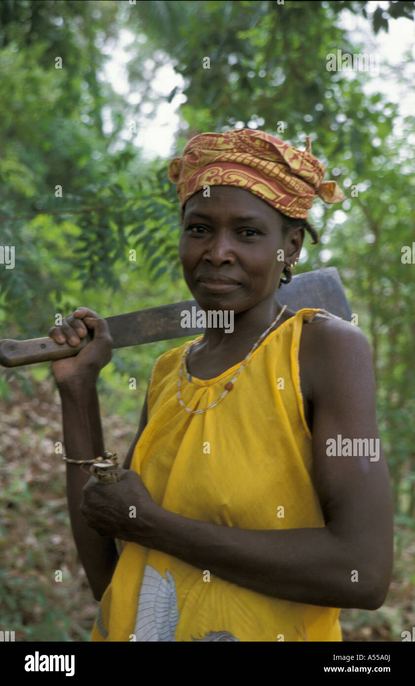 Painet ik0145 gambia woman kabekel village country developing nation less economically developed culture emerging Stock Photo