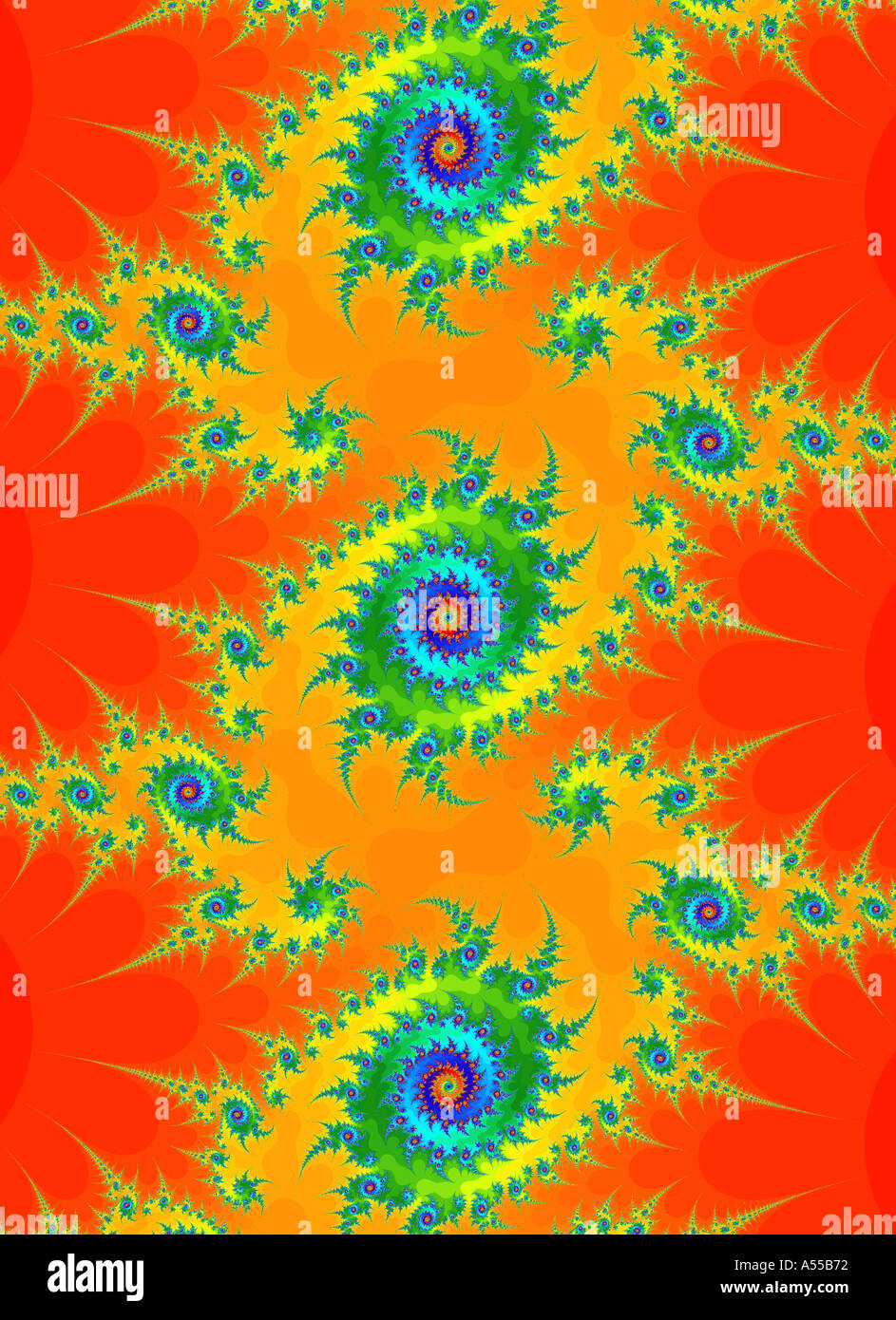 digital enhancement fractal - Stock Image