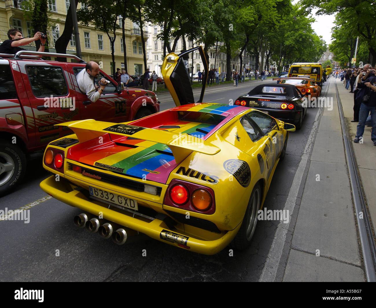 Gumball 3000 Illegal Street Rallye Colourful Racing Cars