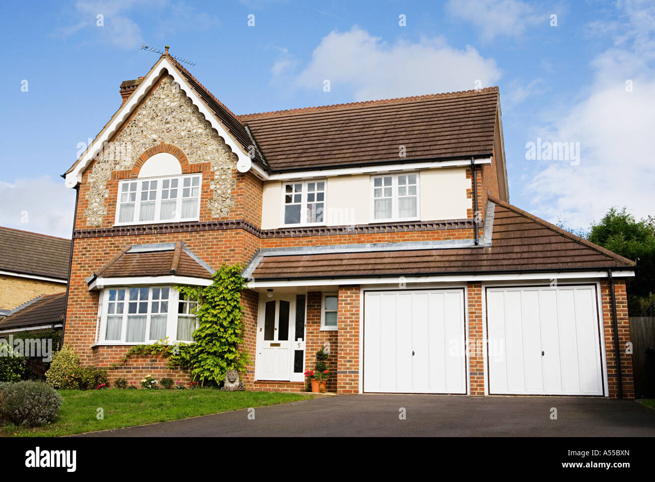 Detached house - Stock Image