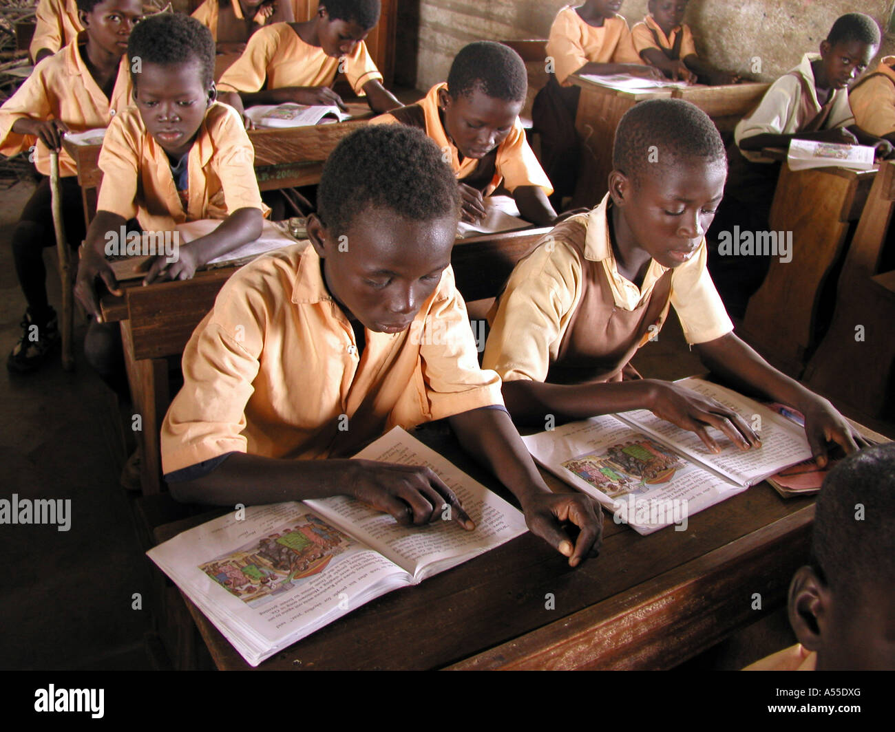 Painet ik0339 ghana school supported by crs bolgatanga country developing nation less economically developed culture - Stock Image