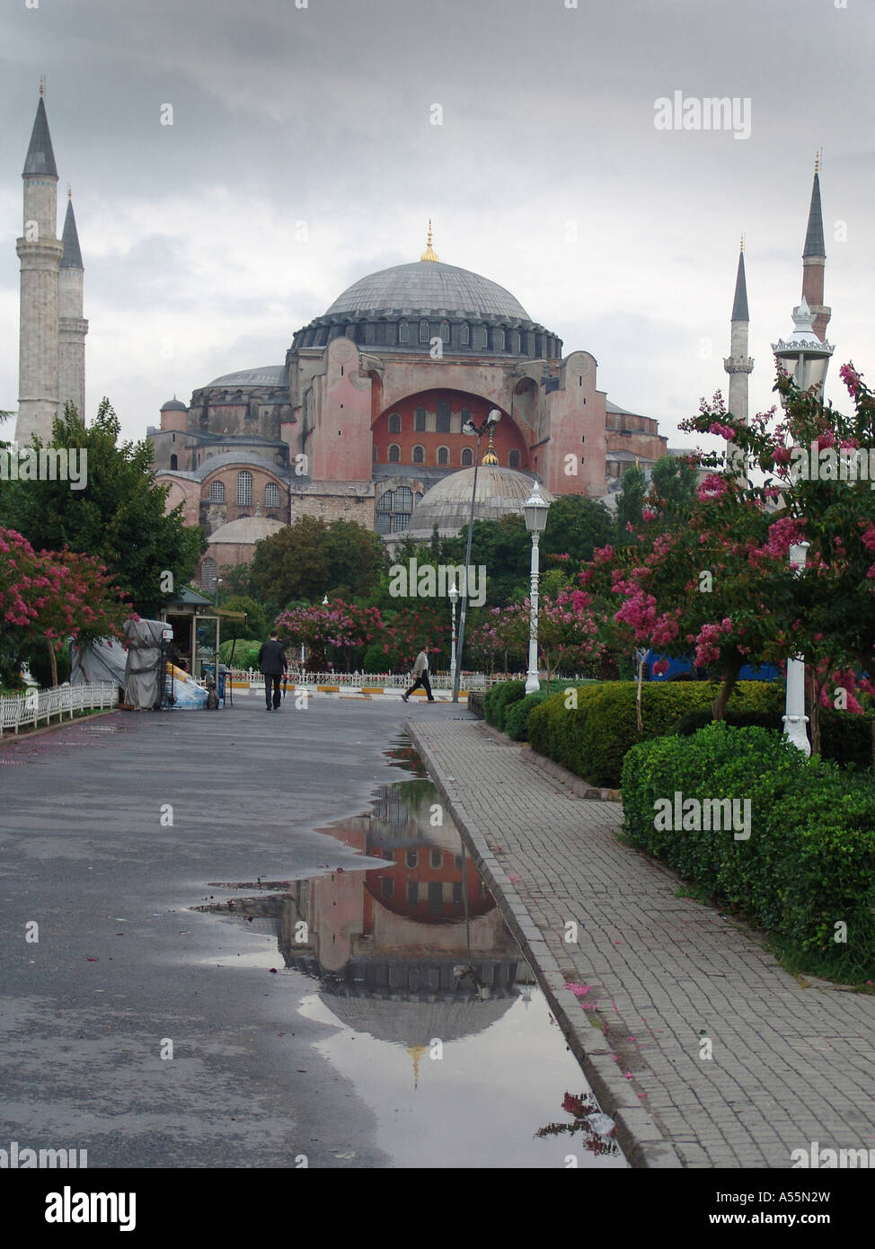 Painet is1547 turkey haghia sophia museum church dedicated 537 ad by emperor justinian converted mosque ottomans Stock Photo