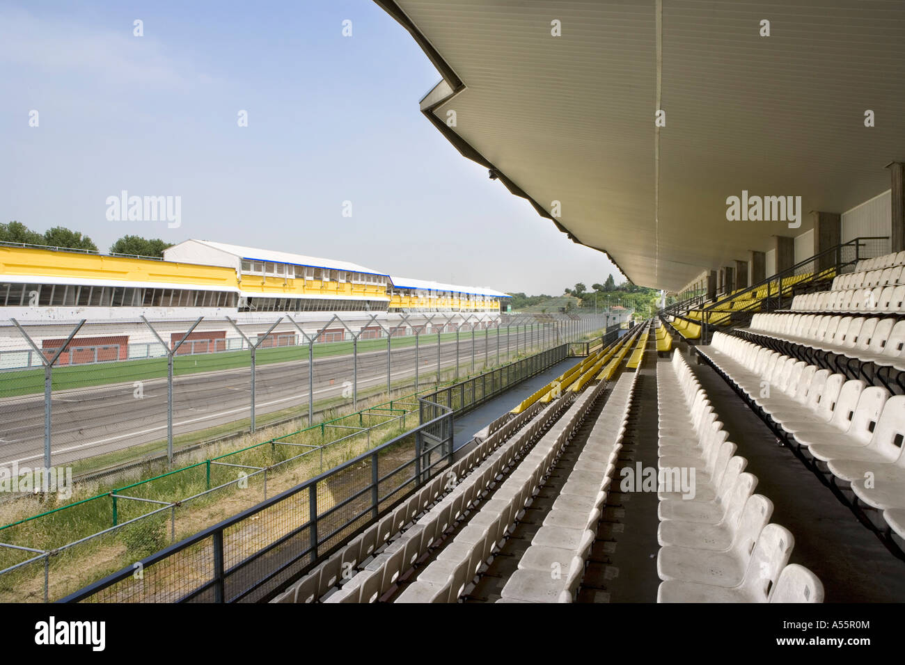 Enzo and Dino Ferrari racetrack Imola Emilia Romagna Italy - Stock Image