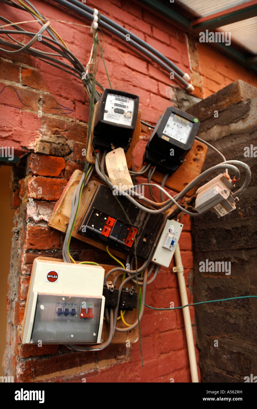 Mains Wire Wiring Rewire Metering Build Building Electric Stock ...