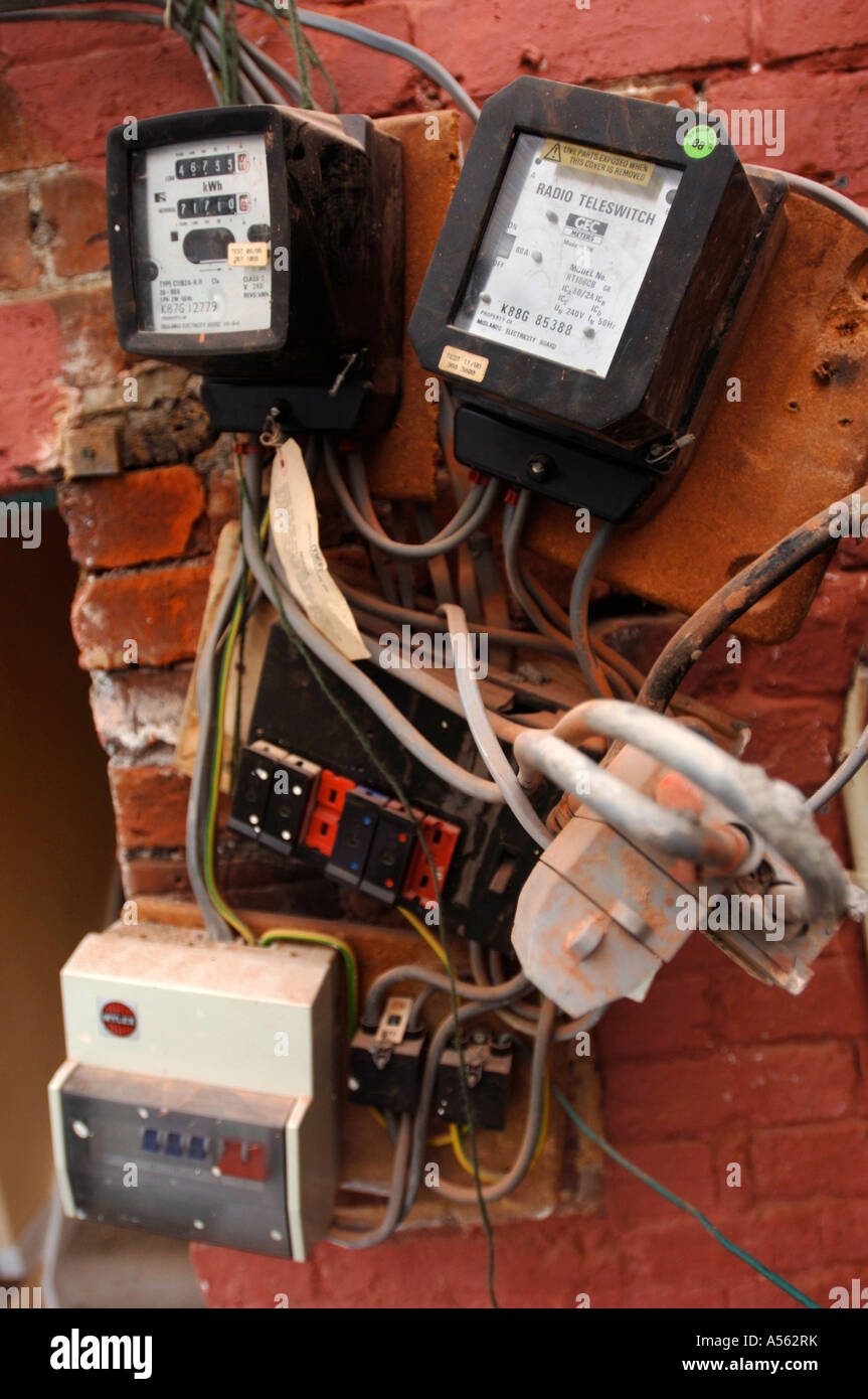 Old Switch Boxes Stock Photos Images Alamy Cartoon Electrical Fuse Box Electricity And Meters Requiring Repair Uk Image