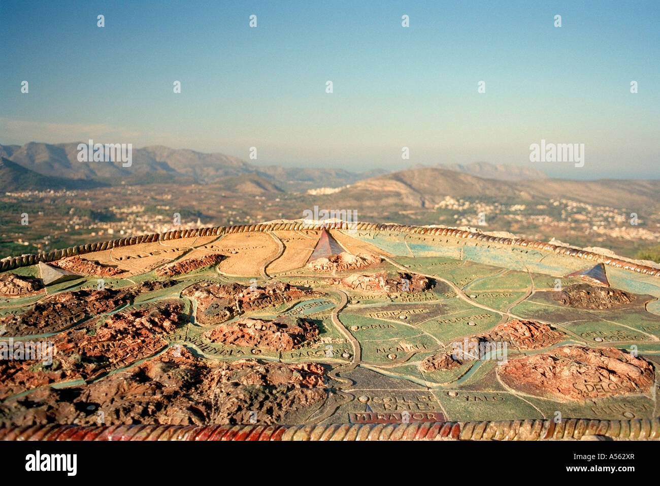 Map Of Spain Jalon.Pottery Map Of The Jalon Valley Spain Stock Photo 11209054 Alamy