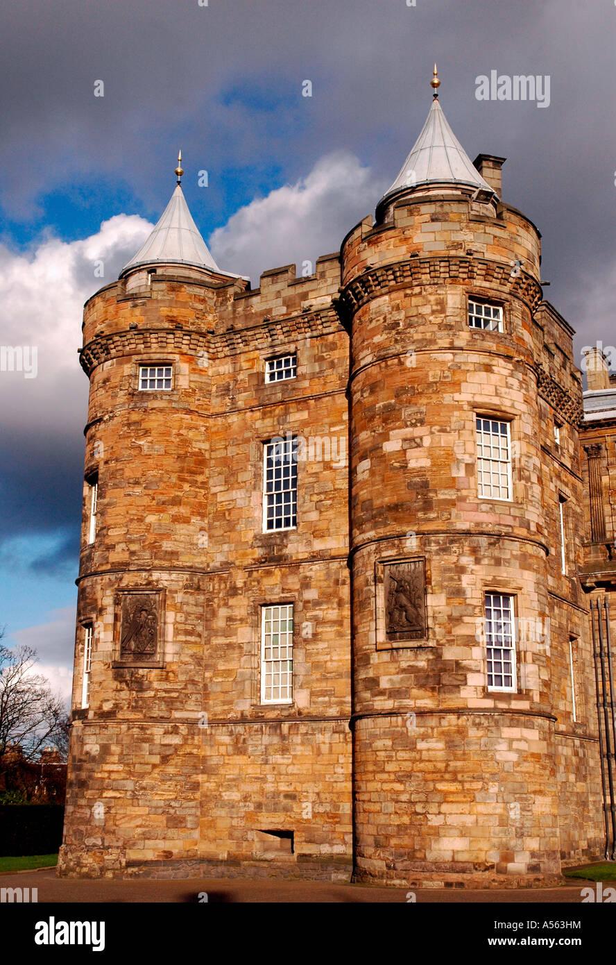 North Tower,Holyrood House,Edinburgh,Scotland,UK - Stock Image