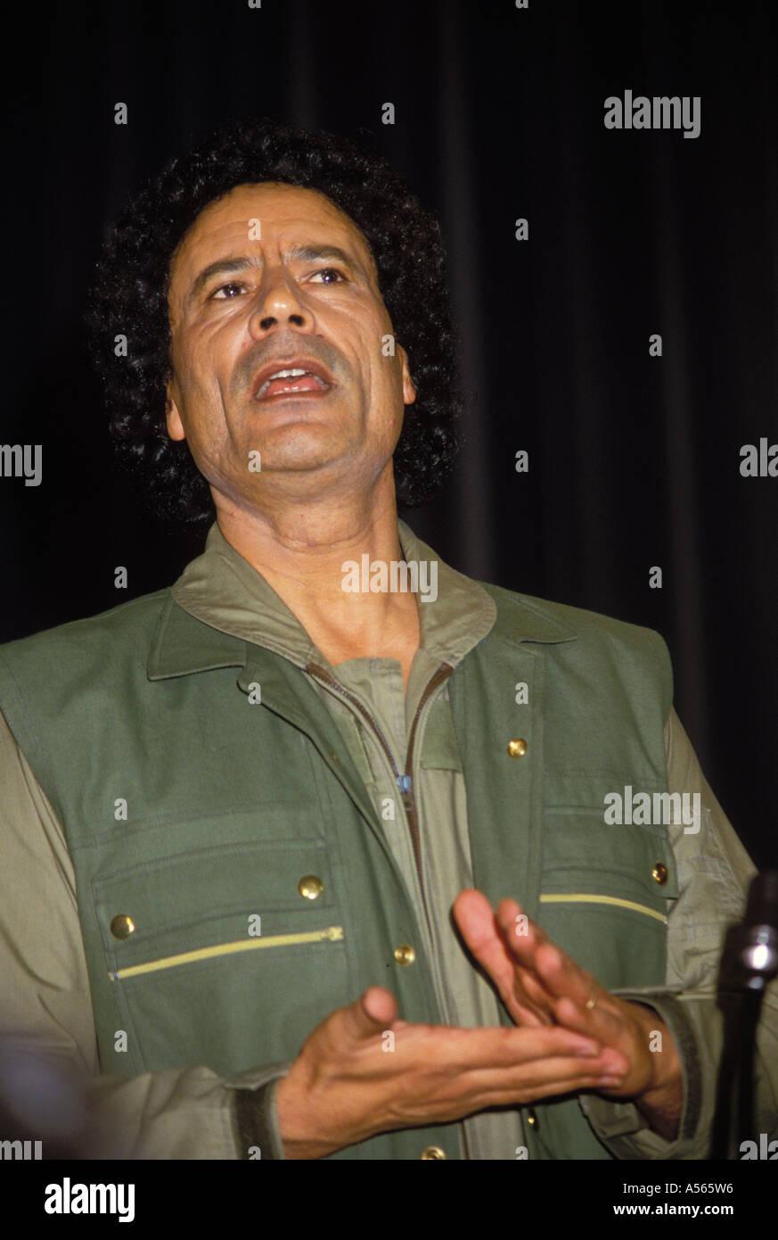 Colonel Muammar al Gaddafi Libya - Stock Image