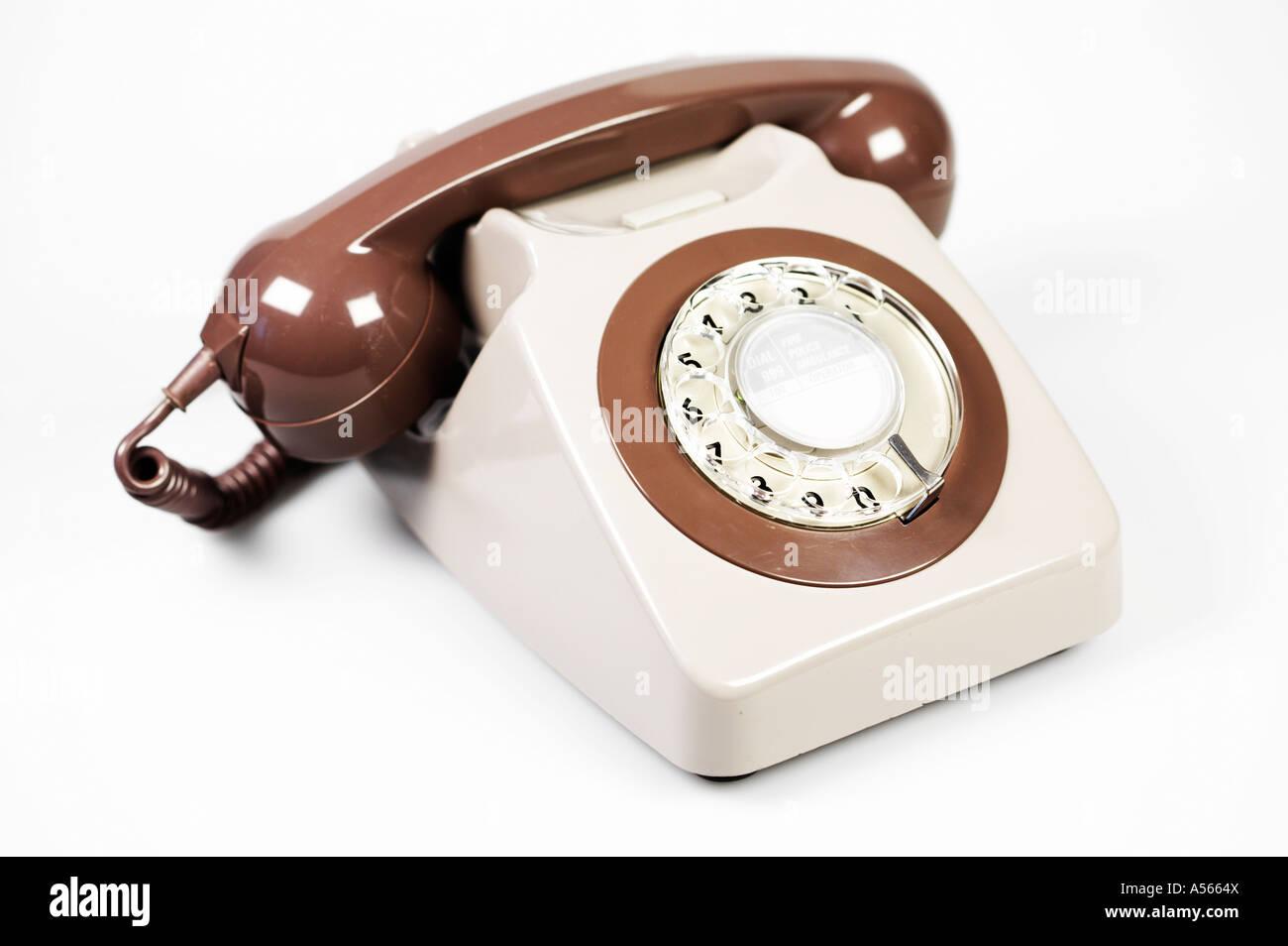 Retro Seventies Telephone British GPO 746 - Stock Image