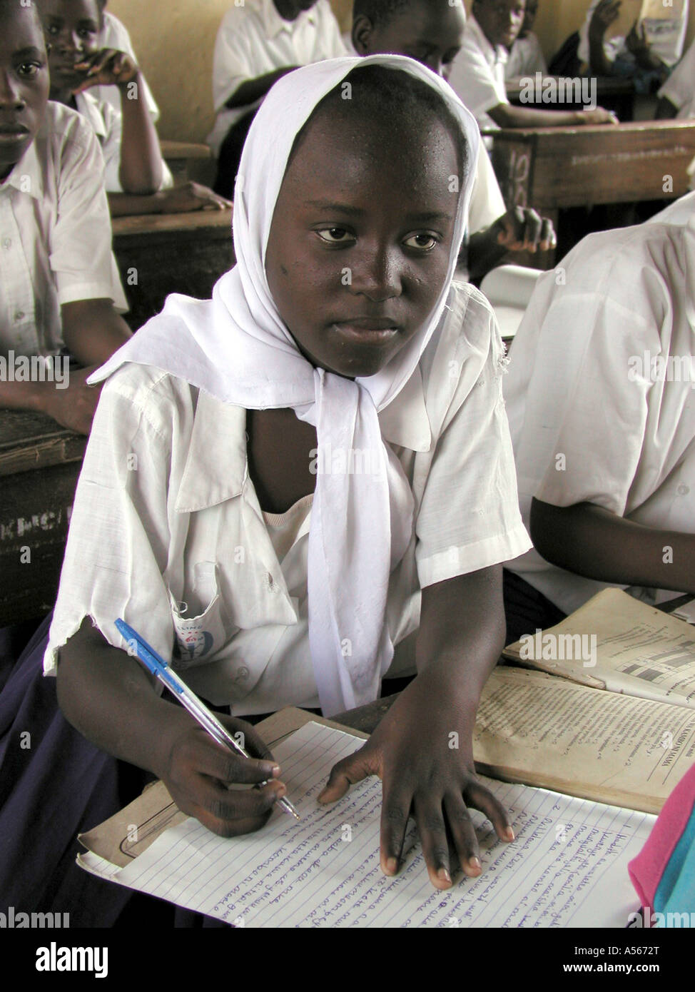 Painet iy7667 tanzania moslem girl mtakuju secondary school daressalaam country developing nation less economically - Stock Image