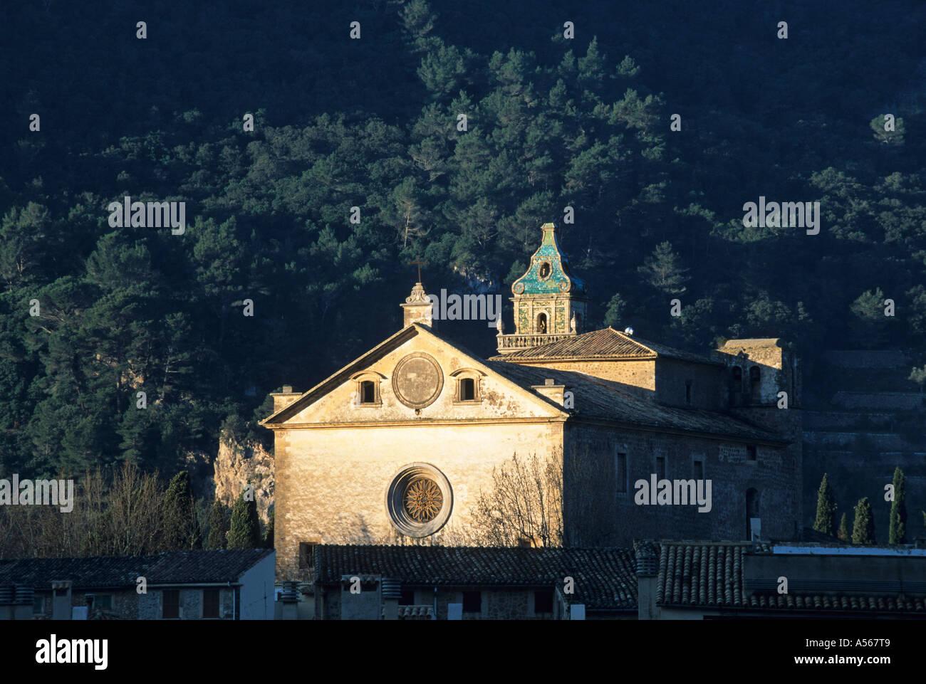 Mallorca Valldemossa Sa Cartoixa - Carthusian cloister - Stock Image
