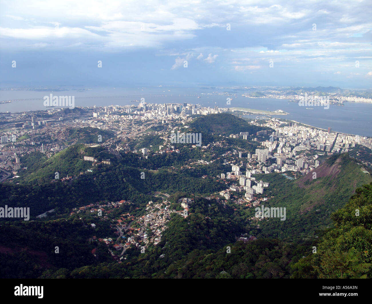 Painet iy8154 brazil panorama rio janeiro corcovado peak site statue christ redeemer 2005 country developing nation Stock Photo