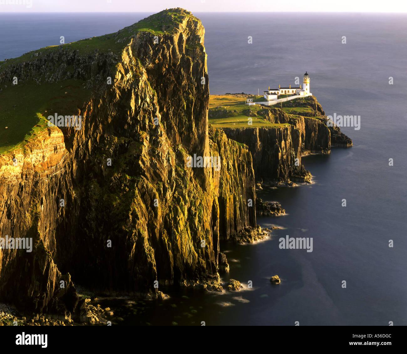 GB - SCOTLAND:  Neist Lighthouse on the Isle of Skye - Stock Image