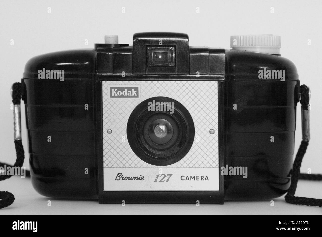A Kodak Brownie 127. ( In black and white ) - Stock Image