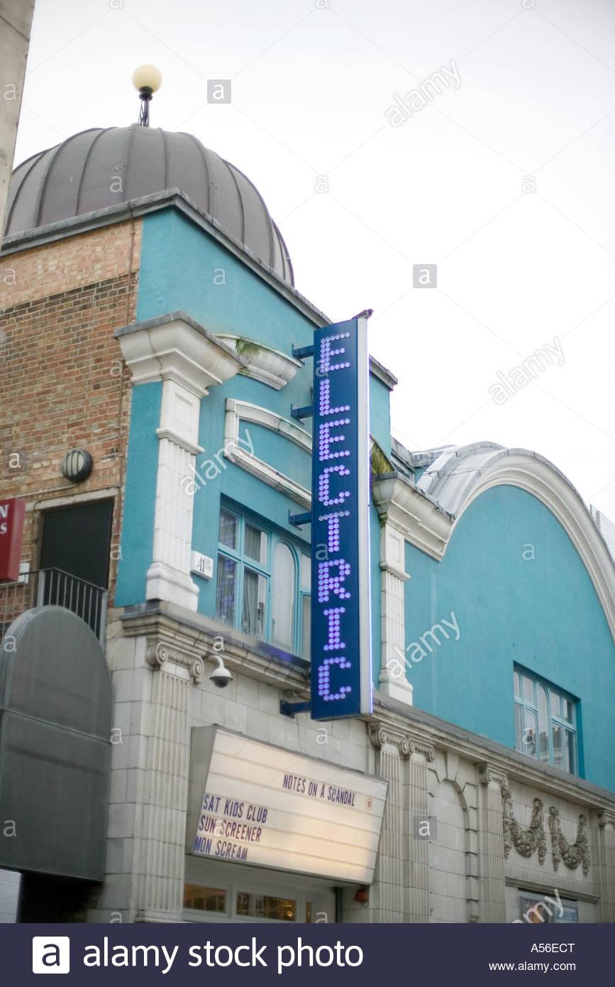 Portobello Road London  Electric cinema exterior - Stock Image