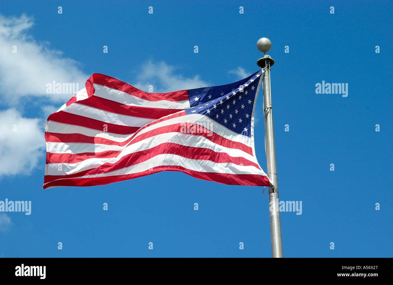 Stars and Stripes American flag, Orlando, Florida, USA - Stock Image