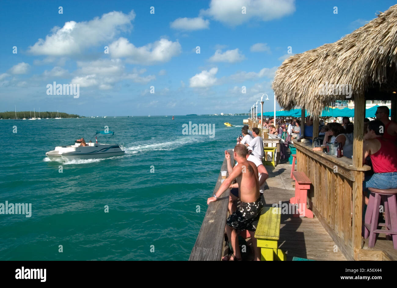Sunset Pier bar in the historic Old Town, Key West, Florida, USA - Stock Image