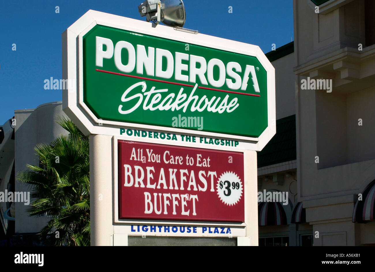 Ponderosa Steakhouse Restaurant Sign International Drive Orlando