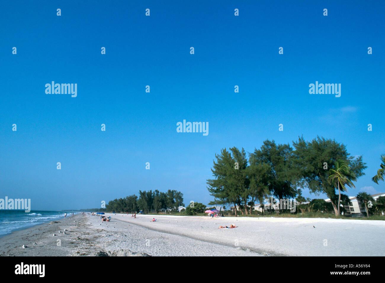 Beacb on Captiva Island, Gulf Coast, Florida, USA Stock Photo
