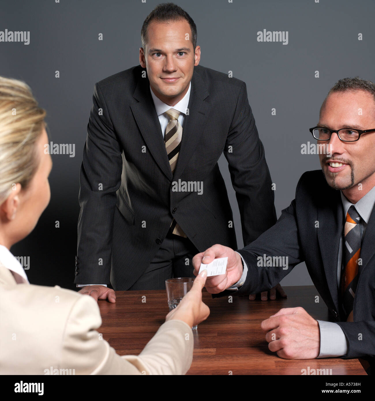 Business people holding conference - Stock Image