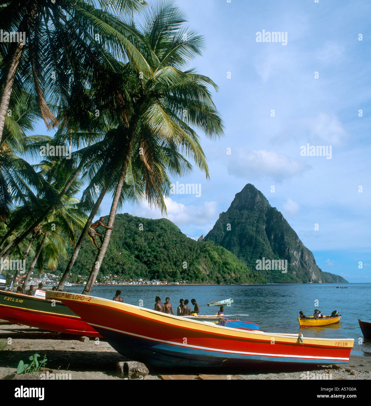 Petit Piton, The Pitons, Soufriere, St Lucia, West Indies, Caribbean - Stock Image