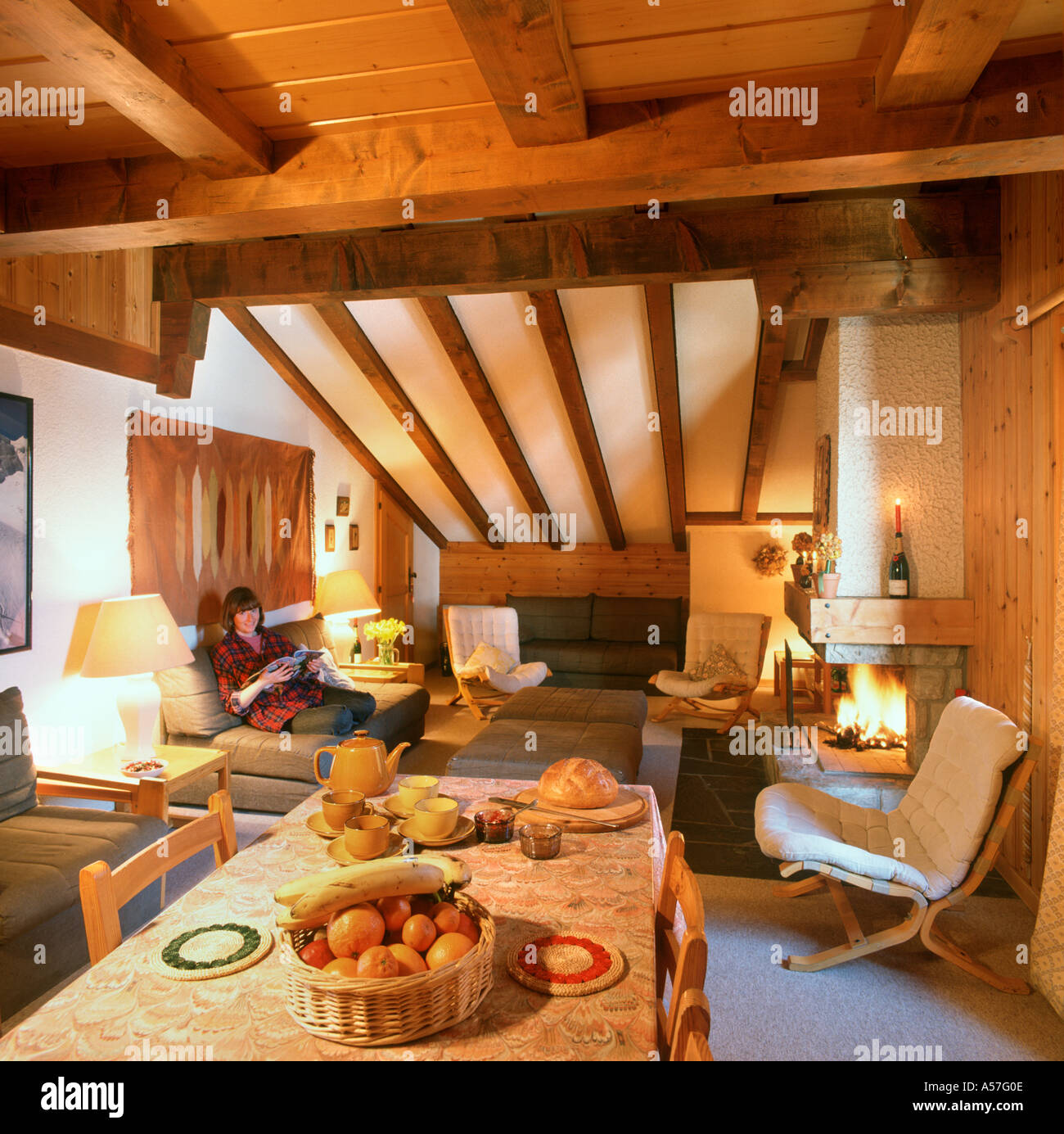 Post And Beam Afternoon Tea In Traditional Ski Chalet Verbier Bernese Alps Switzerland The Times Afternoon Tea In Traditional Ski Chalet Verbier Bernese Alps
