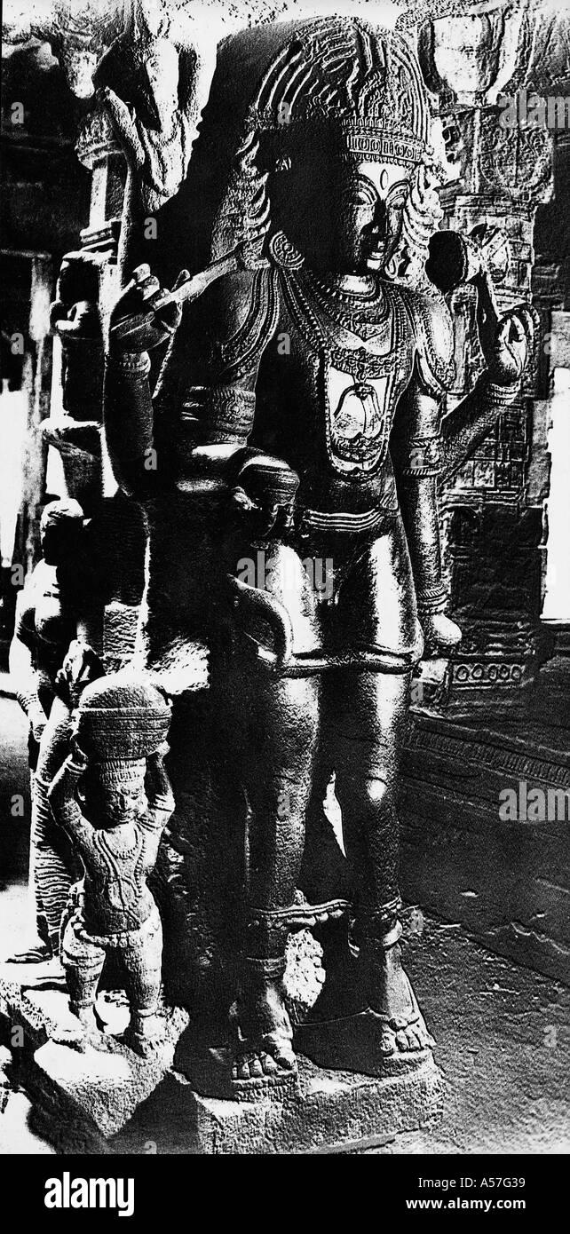 PCP151 God Siva as beggar Meenakshi Temple Madras Chennai Tamil Nadu India 1956 - Stock Image