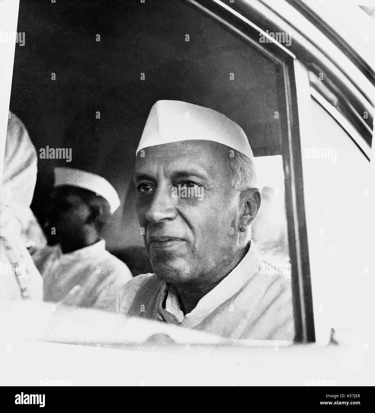 PCP031A Pandit Jawaharlal Nehru visiting rural India Uttar Pradesh India 1953 - Stock Image