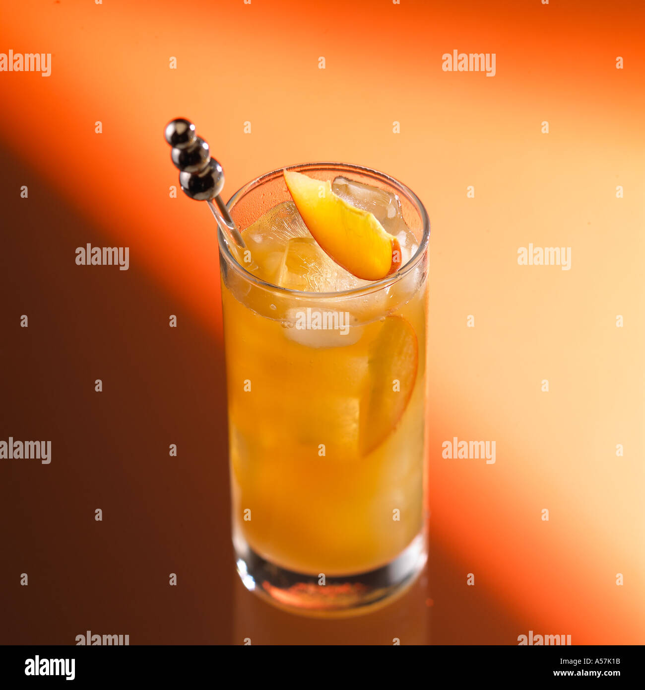 Peach Comfort Cocktail Bourbon Whiskey Southern Comfort Lime Dry