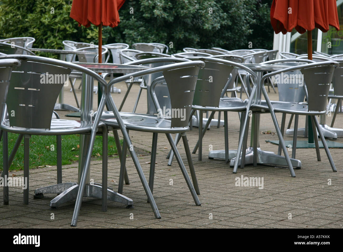 Silver Patio Furniture.Silver Patio Chairs Stock Photo 11224086 Alamy