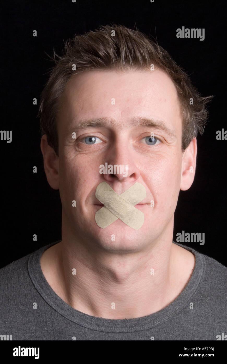Speak Not 1 - Stock Image
