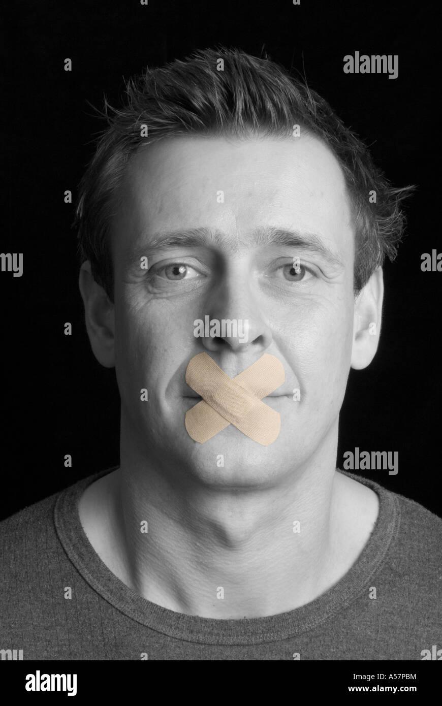 Speak Not 2 - Stock Image