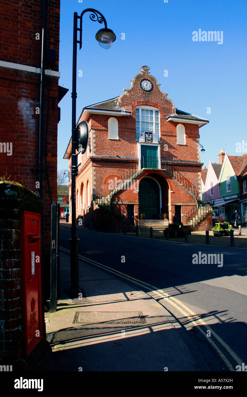 The Shire Hall on Market Hill in Woodbridge Suffolk UK - Stock Image