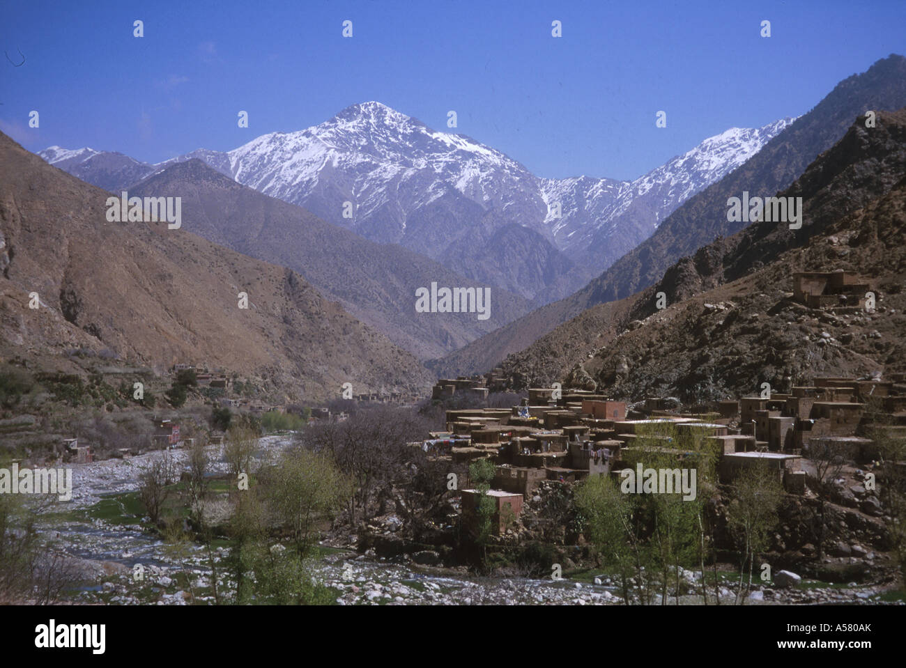 Painet ha2152 4319 morocco high atlas mountains sidi fatima country developing nation less economically developed - Stock Image