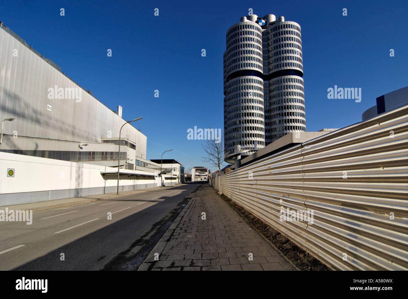 BMW plant and headquarters, Munich, Bavaria, Germany - Stock Image