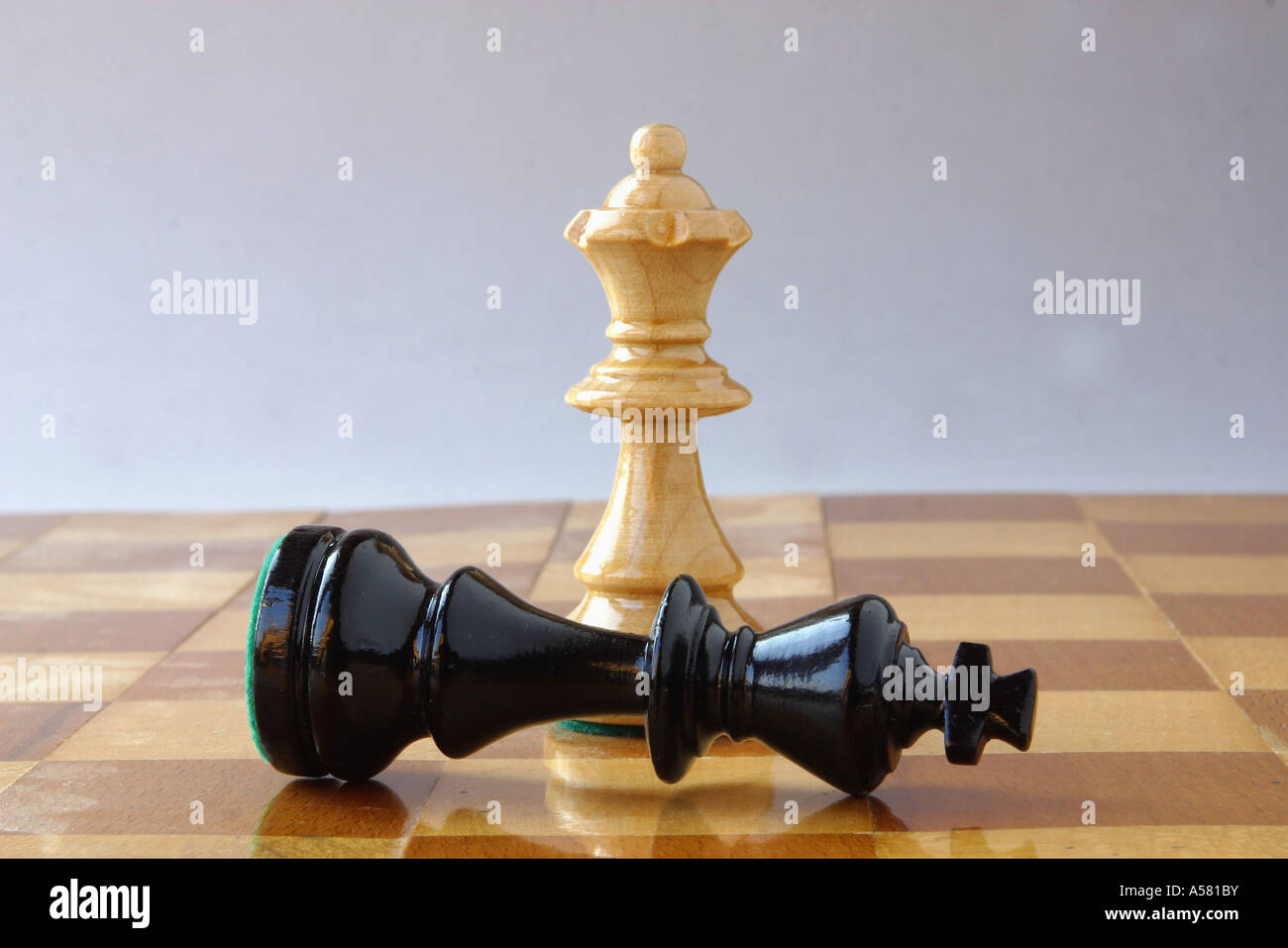 Chess white queen black king mate