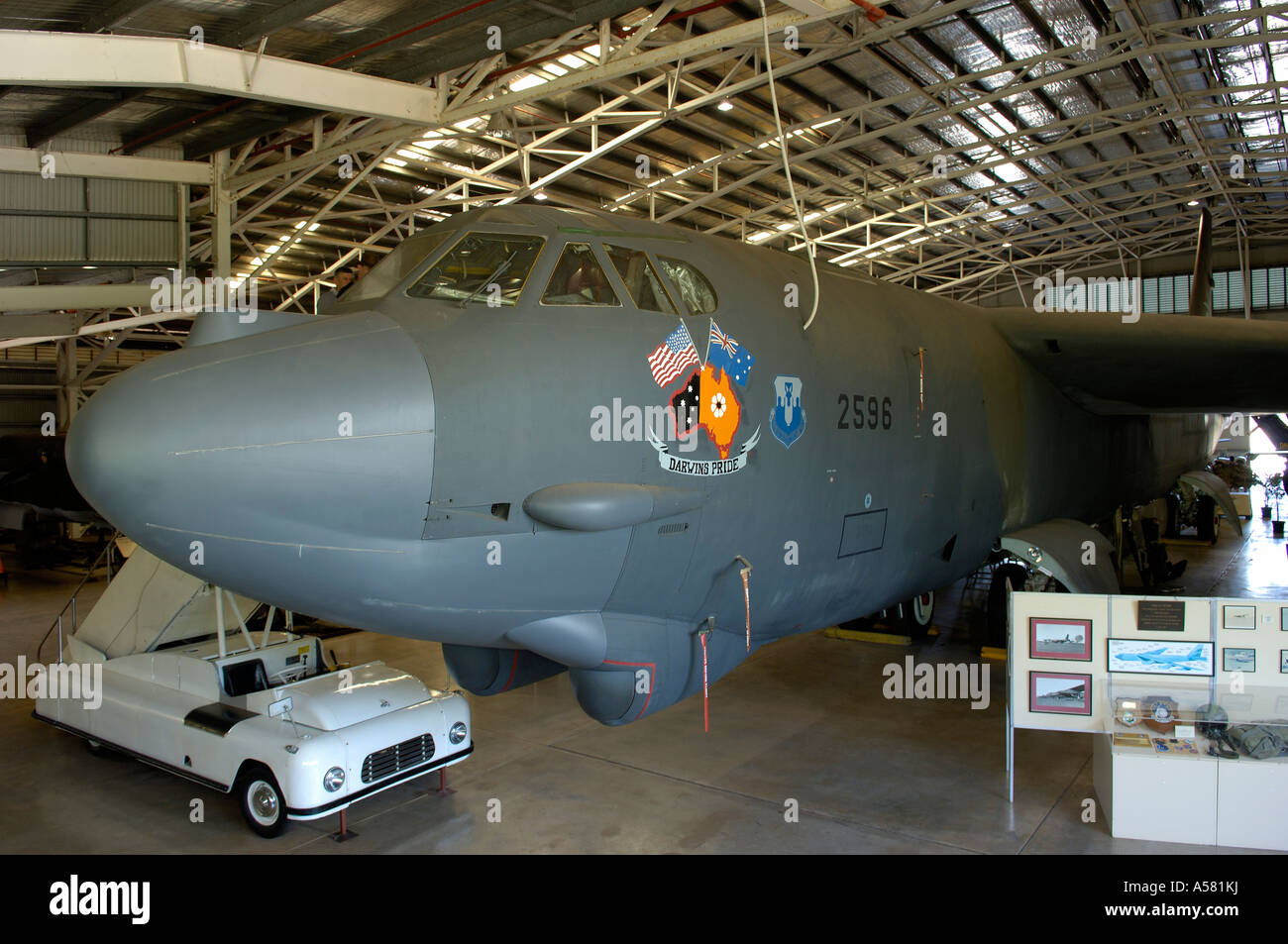 B 52 aircraft of word war 2, shown in darwin, australia - Stock Image