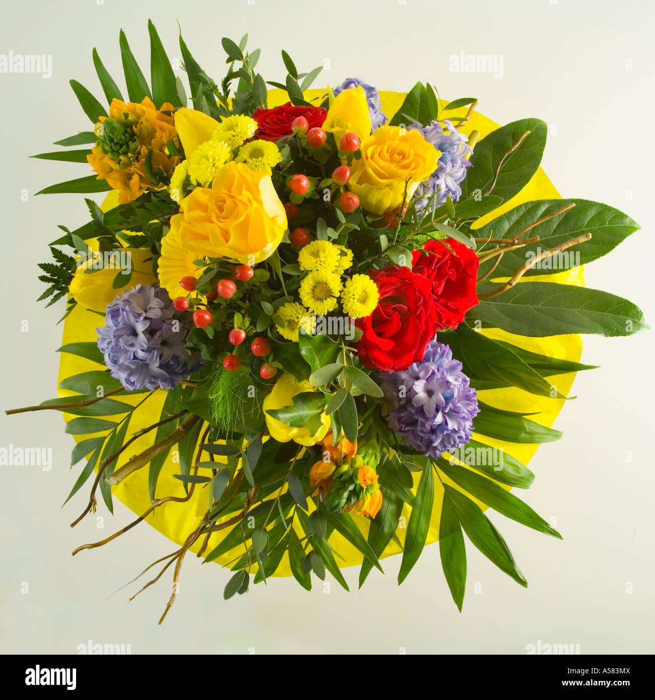 Colourful flower bouquet - Stock Image