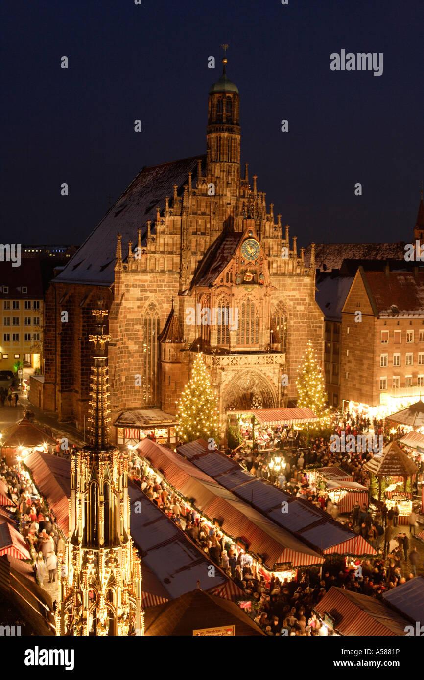Nuremberg - Christmas - market - The Beautiful Fountain - Franconia ...