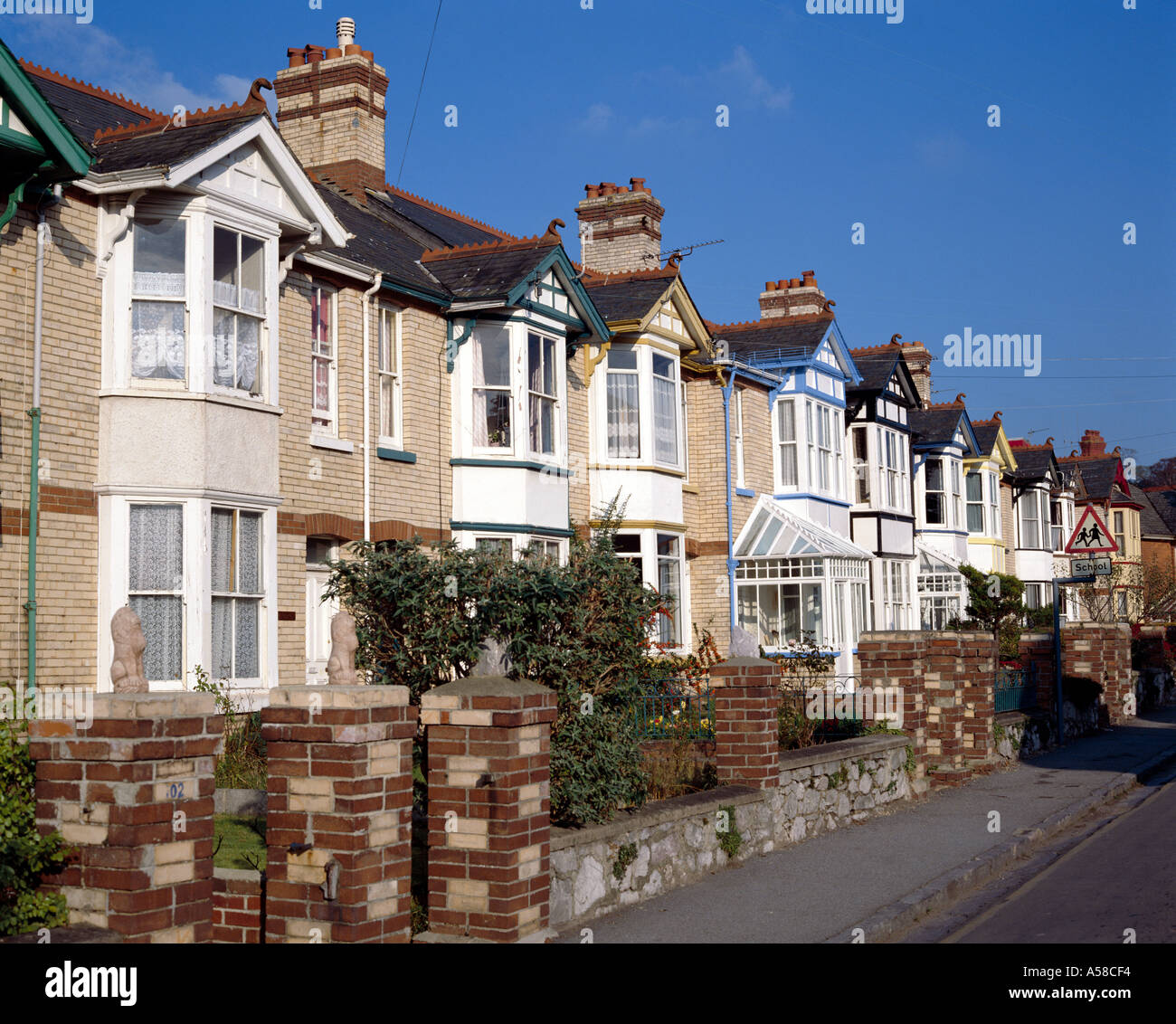 Terraced Housing - Stock Image
