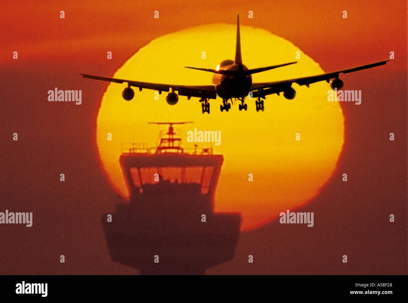 Take Off Landing - Stock Image