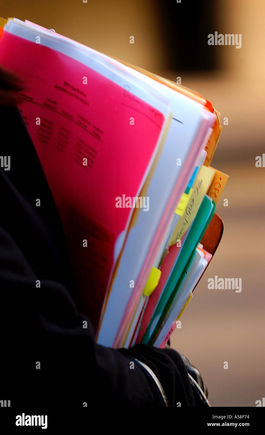 Carrying Files And Paperwork - Stock Image