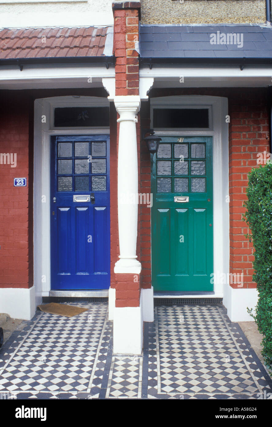 East Dulwich South London pair of front doors in suburban terrace late Victorian & East Dulwich South London pair of front doors in suburban terrace ...