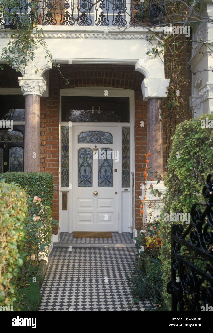 Fulham South West London Uk Typical Front Door Porch And Path Of