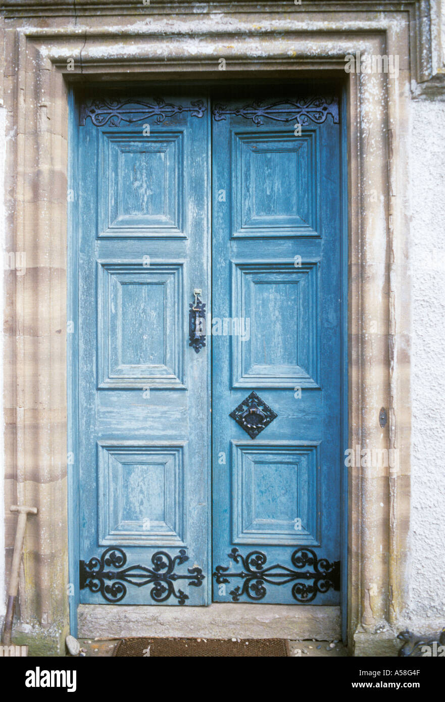 Banff Perthshire Scotland early 19th century blue front door c 1830 & Banff Perthshire Scotland early 19th century blue front door c 1830 ...