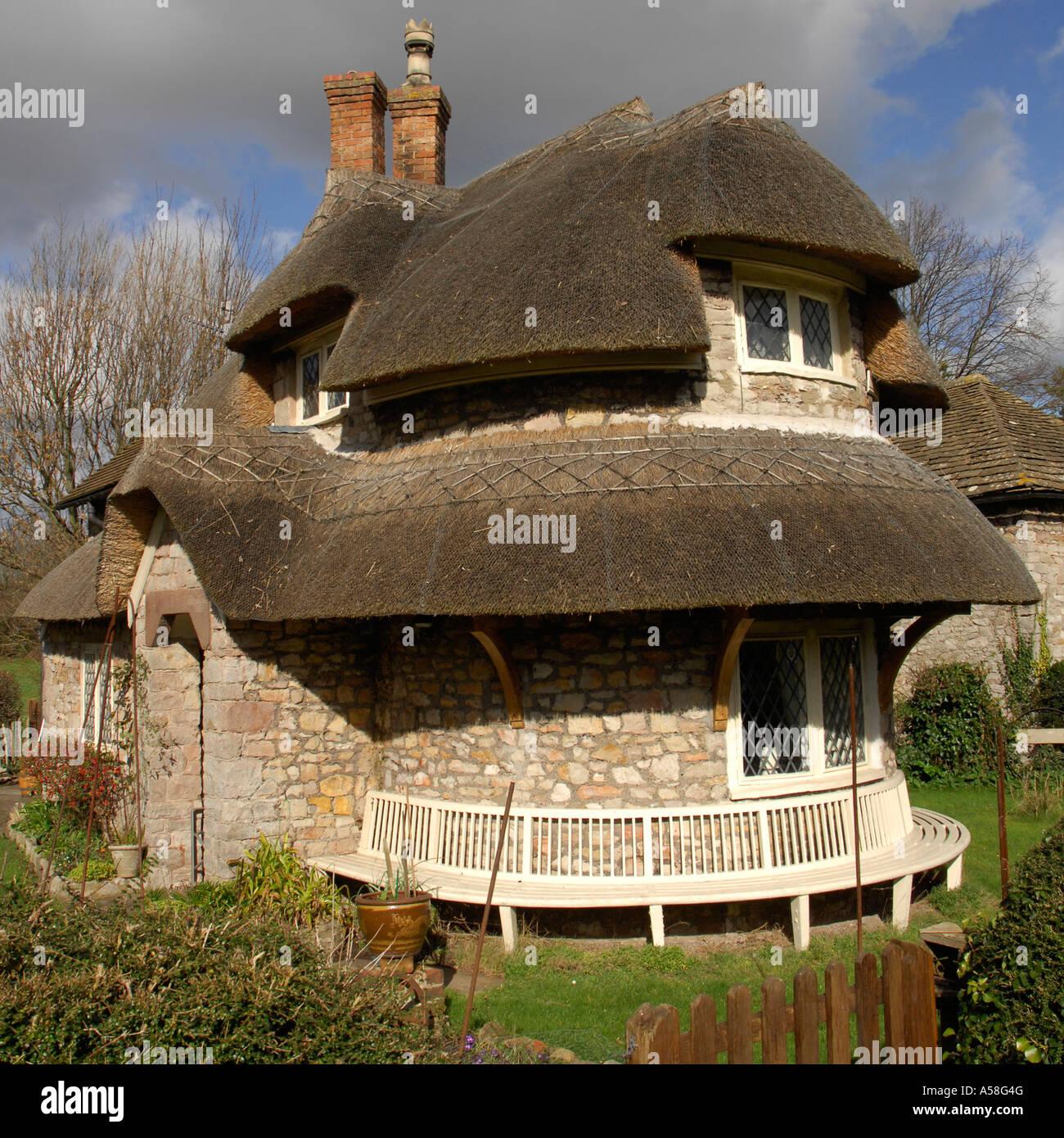 Thatched Cottage, Blaise Hamlet, Bristol, England Stock