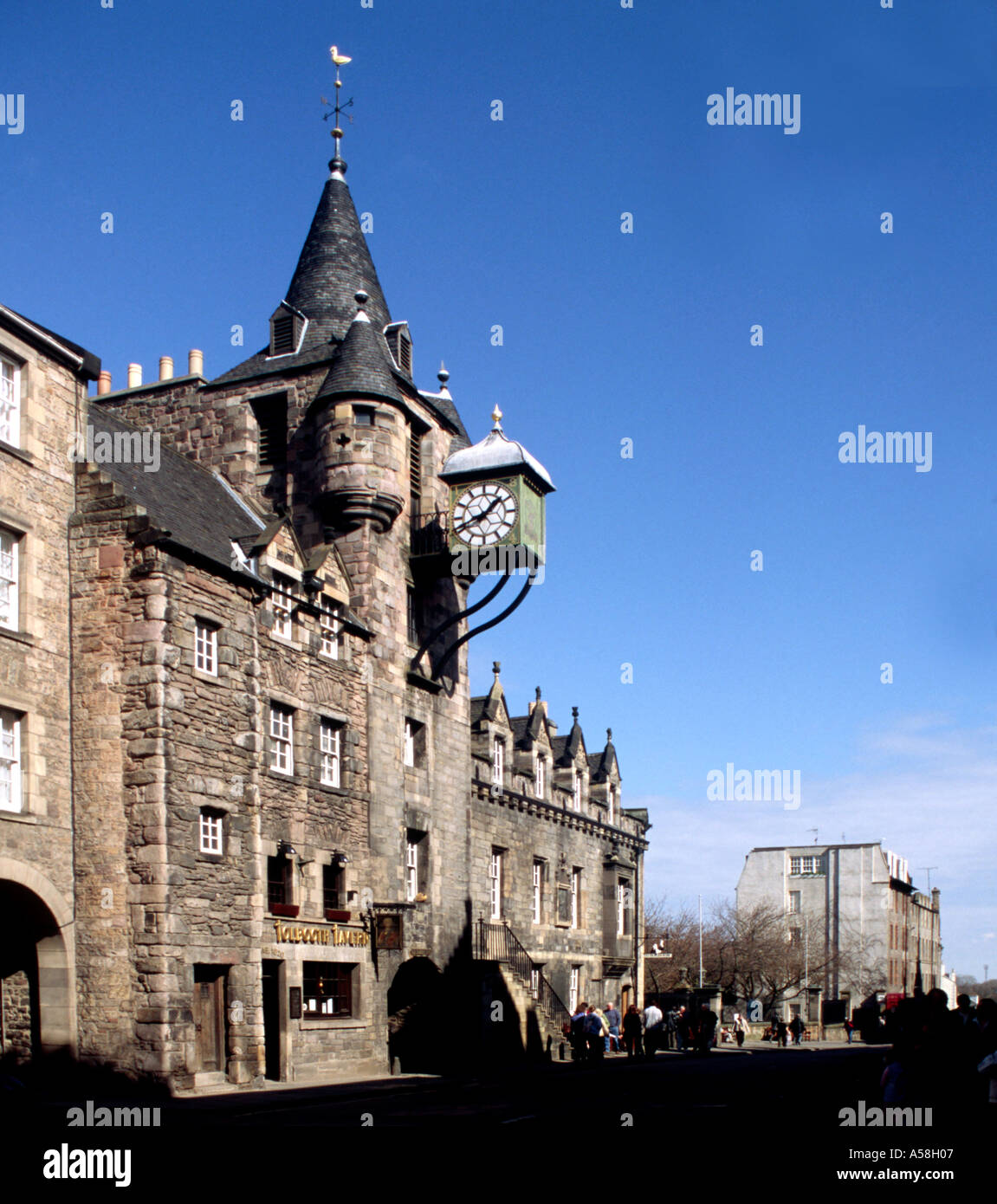 The Cannongate Tolbooth in the Royal Mile Edinburgh Stock Photo
